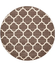 Arbor Arb1 Light Brown 6' x 6' Round Area Rug
