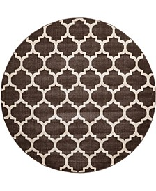 Arbor Arb1 Brown 8' x 8' Round Area Rug