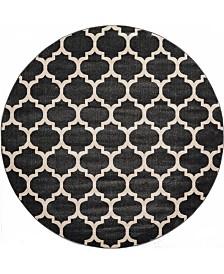 Bridgeport Home Arbor Arb1 Black 8' x 8' Round Area Rug