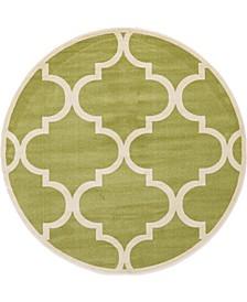 Arbor Arb3 Green 8' x 8' Round Area Rug