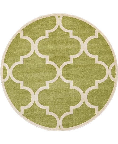 Bridgeport Home Arbor Arb3 Green 8' x 8' Round Area Rug