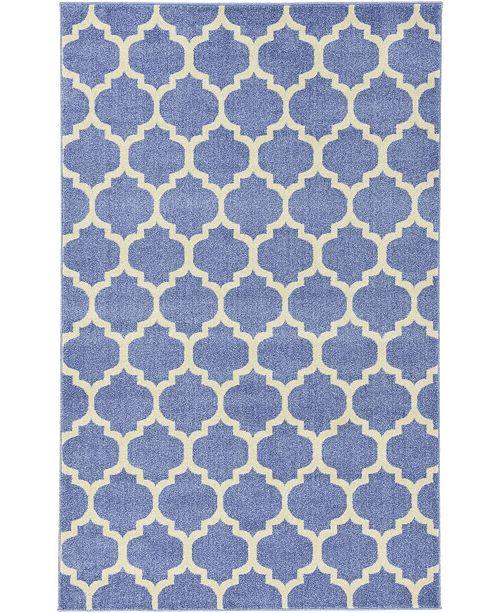 Bridgeport Home Arbor Arb1 Light Blue 5' x 8' Area Rug