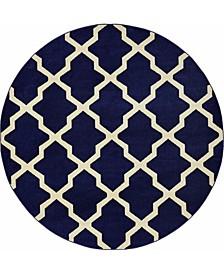 Arbor Arb2 Navy Blue 8' x 8' Round Area Rug