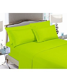6-Piece Luxury Soft Solid Bed Sheet Set California King