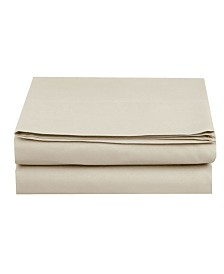 Elegant Comfort Silky Soft Single Flat Sheet Twin Cream