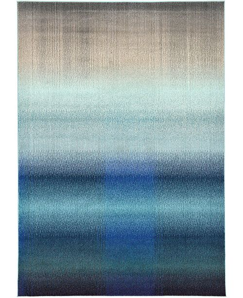Bridgeport Home Newwolf New1 Blue 7' x 10' Area Rug