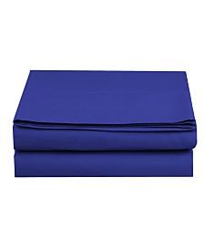 Elegant Comfort Silky Soft Single Flat Sheet Full Royal Blue