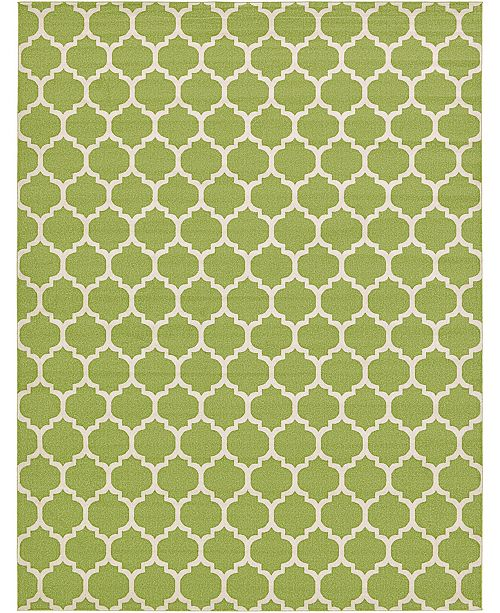 "Bridgeport Home Arbor Arb1 Light Green 12' 2"" x 16' Area Rug"