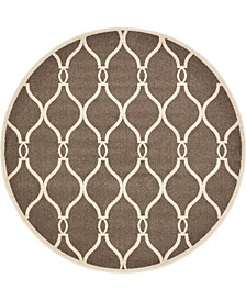 Arbor Arb6 Brown 6' x 6' Round Area Rug