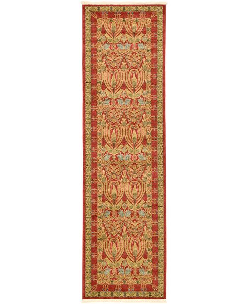 "Bridgeport Home Orwyn Orw3 Red/Tan 2' 7"" x 10' Runner Area Rug"