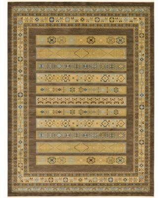 Ojas Oja4 Brown 7' x 10' Area Rug