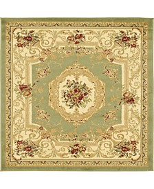 Belvoir Blv3 Green 4' x 4' Square Area Rug