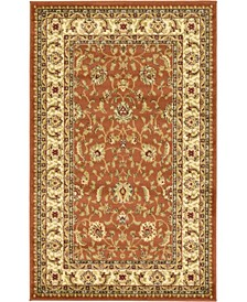 "Passage Psg4 Brick Red 3' 3"" x 5' 3"" Area Rug"