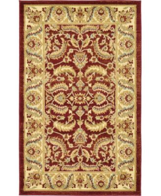 "Passage Psg1 Red 3' 3"" x 5' 3"" Area Rug"