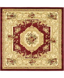Bridgeport Home Belvoir Blv3 Red 4' x 4' Square Area Rug