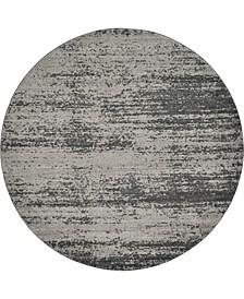 Lyon Lyo3 Dark Gray 8' x 8' Round Area Rug