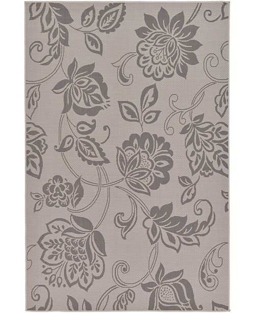 "Bridgeport Home Pashio Pas5 Gray 5' 3"" x 8' Area Rug"