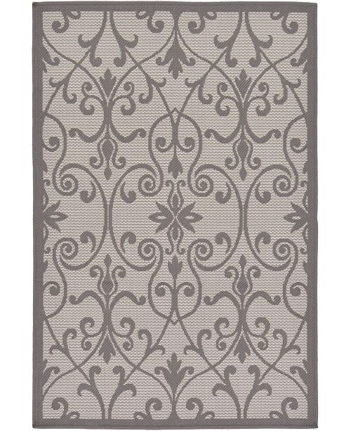 "Bridgeport Home Pashio Pas5 Gray 3' 3"" x 5' Area Rug"