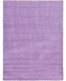 Exact Shag Exs1 Lilac 8' x 11' Area Rug