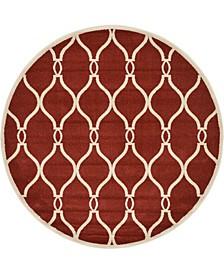 Arbor Arb6 Red 6' x 6' Round Area Rug