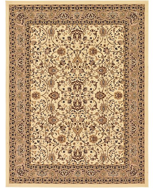 Bridgeport Home Arnav Arn1 Ivory 9' x 12' Area Rug