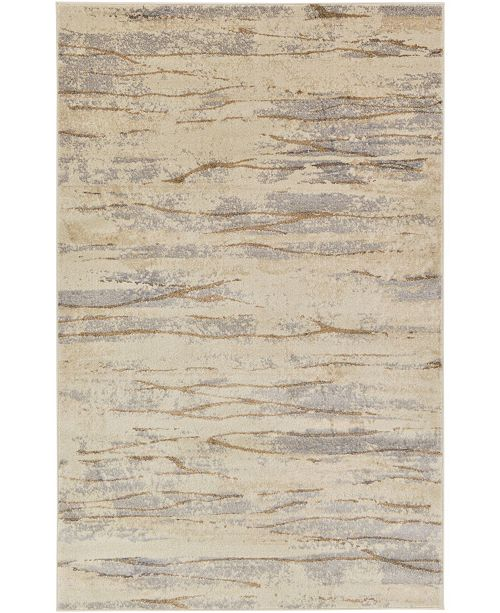 Bridgeport Home Aroa Aro9 Beige 5' x 8' Area Rug