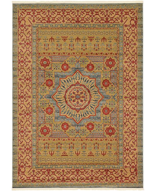 Bridgeport Home Wilder Wld4 Light Blue 7' x 10' Area Rug