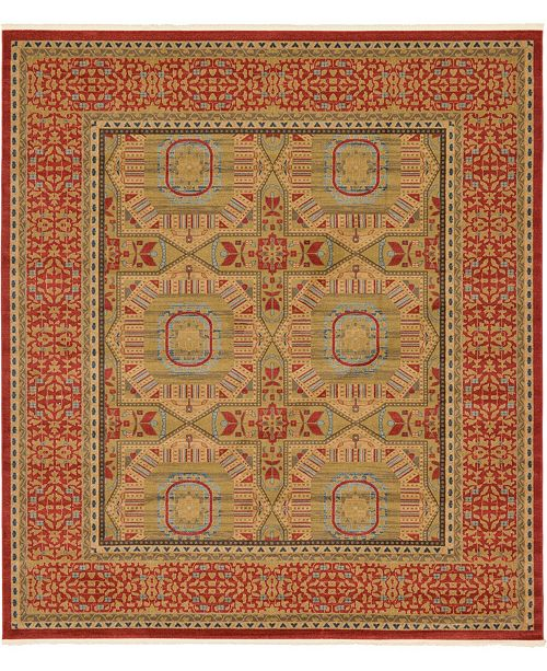 "Bridgeport Home Wilder Wld6 Red 10' x 11' 4"" Square Area Rug"