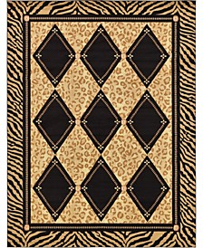 Maasai Mss6 Light Brown 9' x 12' Area Rug