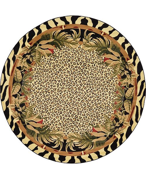 Bridgeport Home Maasai Mss1 Ivory 8' x 8' Round Area Rug