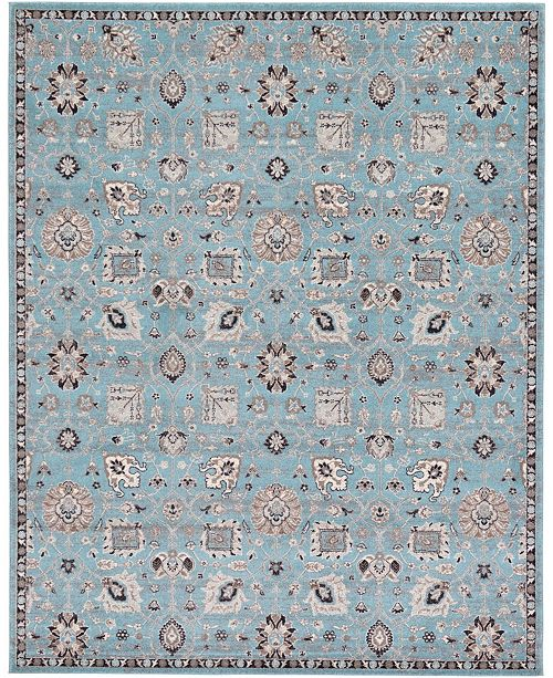 Bridgeport Home Wisdom Wis1 Light Blue 8' x 10' Area Rug