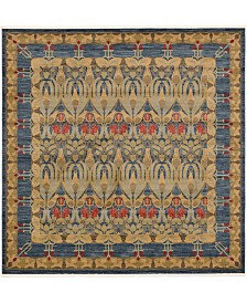 Bridgeport Home Orwyn Orw3 Blue 10' x 10' Square Area Rug
