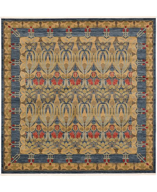 Bridgeport Home Orwyn Orw3 Blue 10' x 10' Square Area Rug