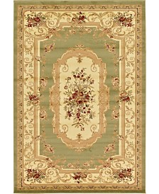 Bridgeport Home Belvoir Blv3 Green 6' x 9' Area Rug
