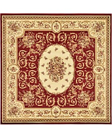 Belvoir Blv4 Red 8' x 8' Square Area Rug