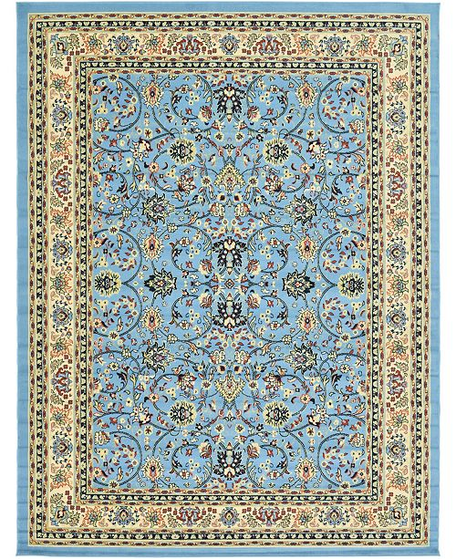 Bridgeport Home Arnav Arn1 Light Blue 9' x 12' Area Rug