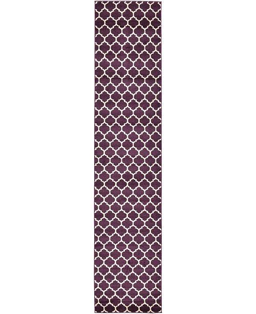 "Bridgeport Home Arbor Arb1 Purple 2' 7"" x 13' Runner Area Rug"