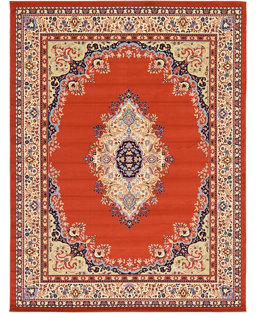 Bridgeport Home Birsu Bir1 Terracotta 9' x 12' Area Rug
