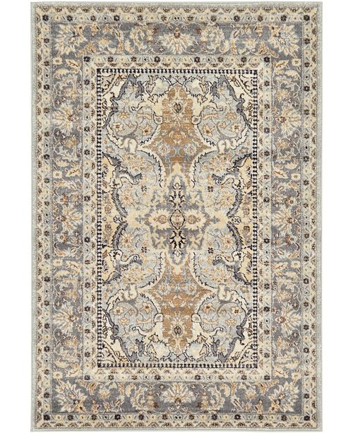 Bridgeport Home Wisdom Wis2 Silver 4' x 6' Area Rug