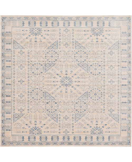 Bridgeport Home Caan Can3 Beige 8' x 8' Square Area Rug