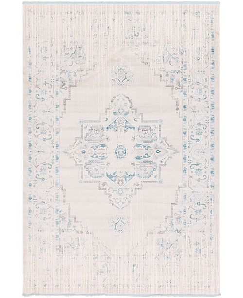 "Bridgeport Home Norston Nor2 Ivory 8' x 11' 4"" Area Rug"