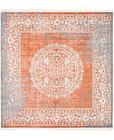 Norston Nor4 Terracotta 8' x 8' Square Area Rug
