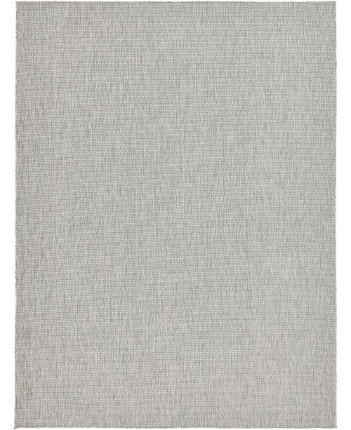 Bridgeport Home Pashio Pas6 Light Gray 9' x 12' Area Rug