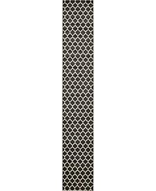 """Arbor Arb1 Black 2' 7"""" x 16' 5"""" Runner Area Rug"""