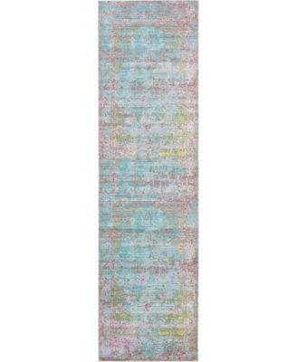 "Malin Mal1 Blue 2' 7"" x 9' 10"" Runner Area Rug"