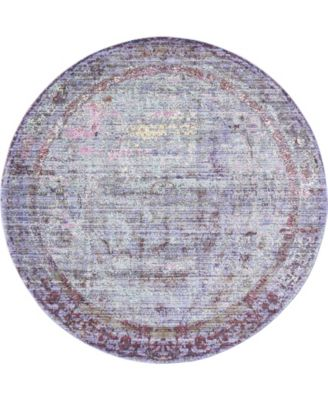 Malin Mal1 Violet 6' x 6' Round Area Rug