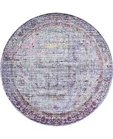 Malin Mal1 Violet 6' x 6' Round Area Rug