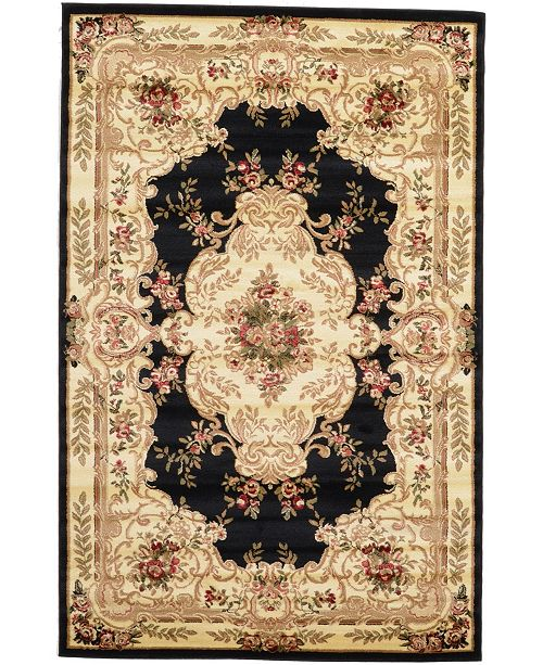 Bridgeport Home Belvoir Blv5 Black 5' x 8' Area Rug