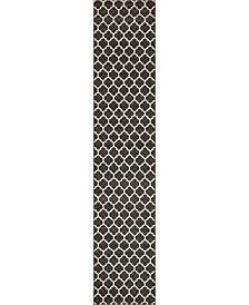 """Arbor Arb1 Black 2' 7"""" x 13' Runner Area Rug"""