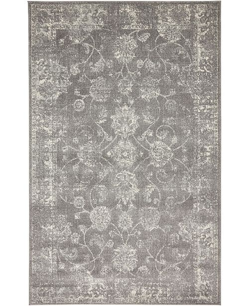 Bridgeport Home Wisdom Wis6 Dark Gray 5' x 8' Area Rug